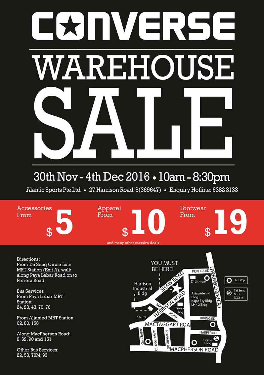 2016 Converse Warehouse Sale Flyer