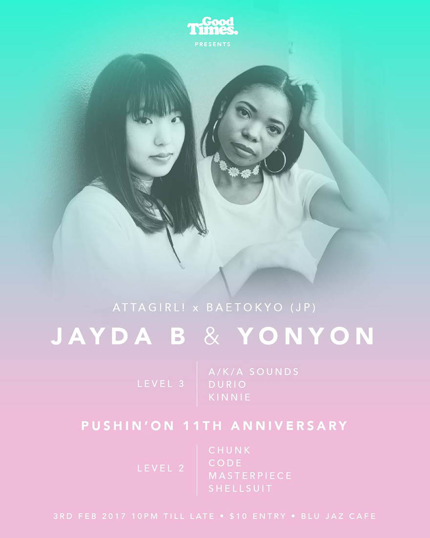 Bae Tokyo performs in Singapore at Good Times @ BluJaz (3 February 2017)