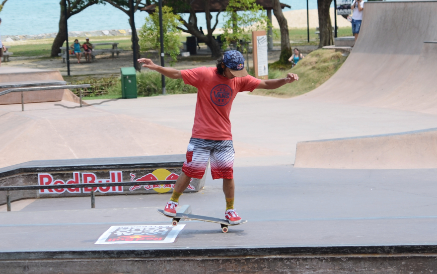 Homegrown talent and Red Bull athlete Farris Rahman showing off some skills