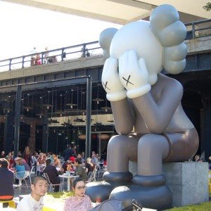 KAWS Companion Passing Through The Standard New York Gino Leslie 3