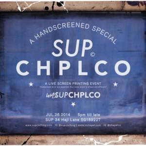 Sup & Chapel Co. Presents: A Live Screen Printing Event