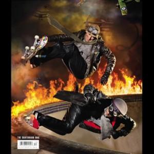 Skateboarding Legends Create a Fiery Hot Magazine Cover