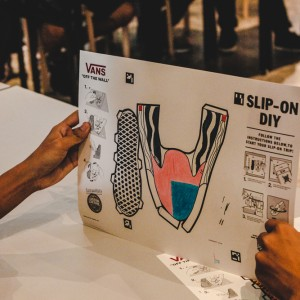 House of Vans KL: Custom paper slip-ons template