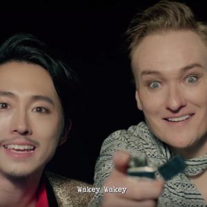 "Conan O'Brien and Steven Yuen star in J.Y. Park's ""Fire"" MV"