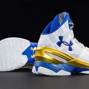 """With the Golden State Warriors advancing to the NBA finals after a hard-fought conference finals, you too can soon wear the Under Armour Curry 2 """"Gold Rings"""" with pride."""