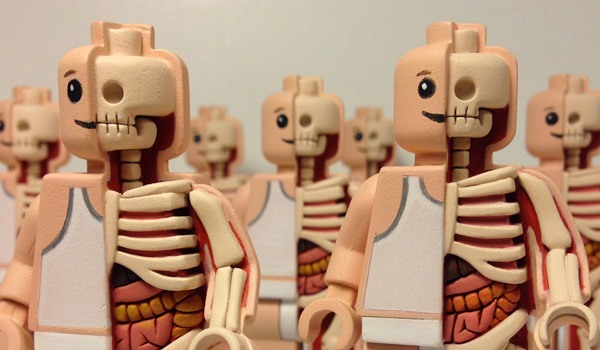 """Toy Designer Jason Freeny """"Dissects"""" Iconic Characters For a Living"""