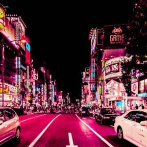 Xavier Portela Captures the Pink Glow of Tokyo's Streets