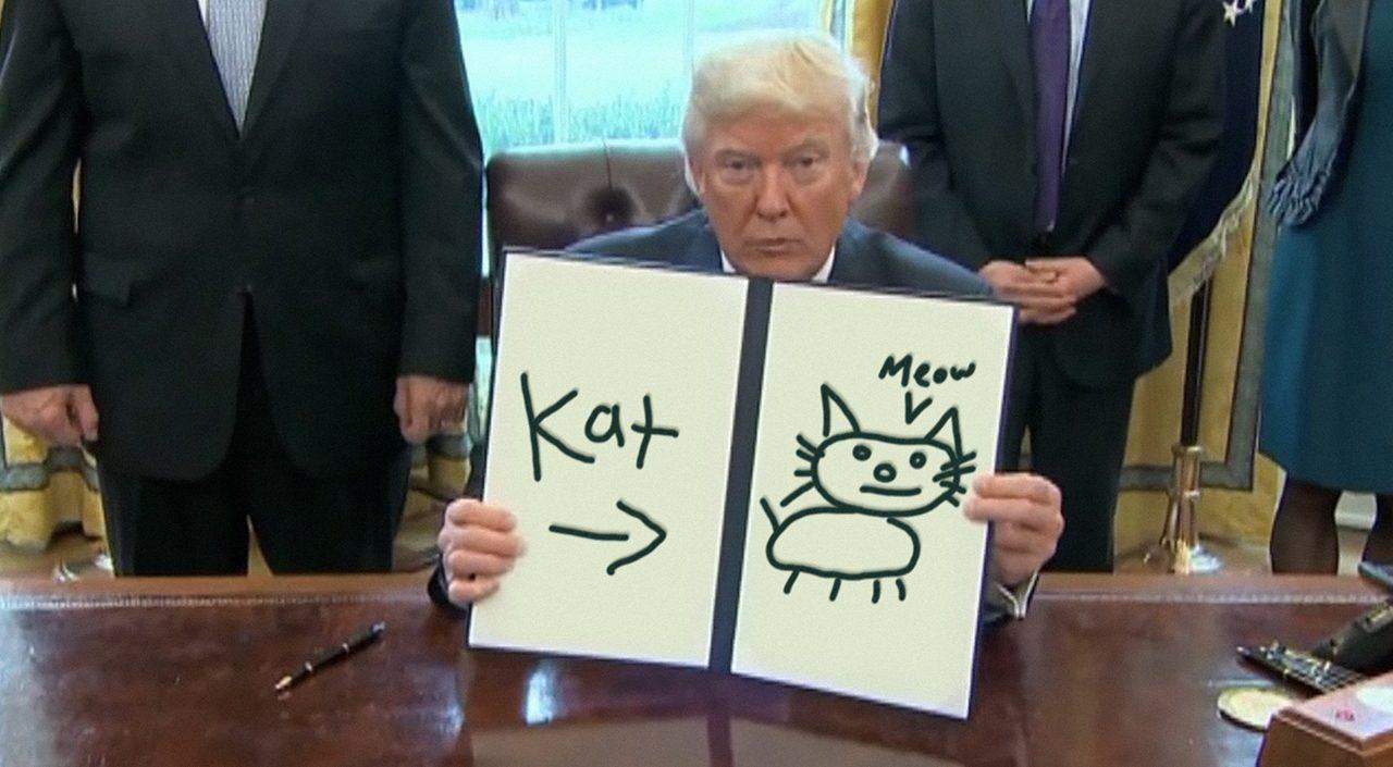 Trump Draws a kat
