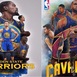 illustrations-nba-golden-state-warriors-cleveland-cavaliers