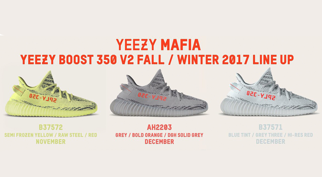 best service 23418 230fe Adidas Yeezy 350 V2 Sneakers Scheduled to Drop November 2017 ...