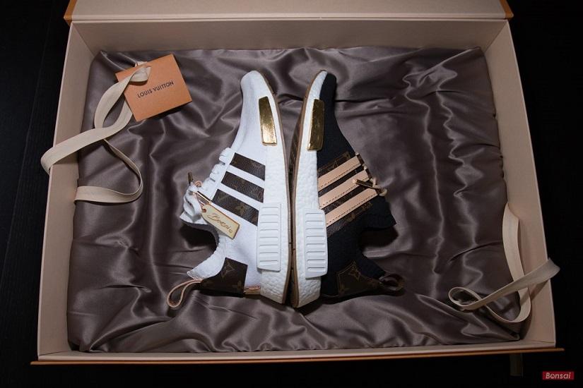 cheap for discount a8107 151d6 Craig David Unveils Custom-Made Louis Vuitton x Adidas NMDs ...