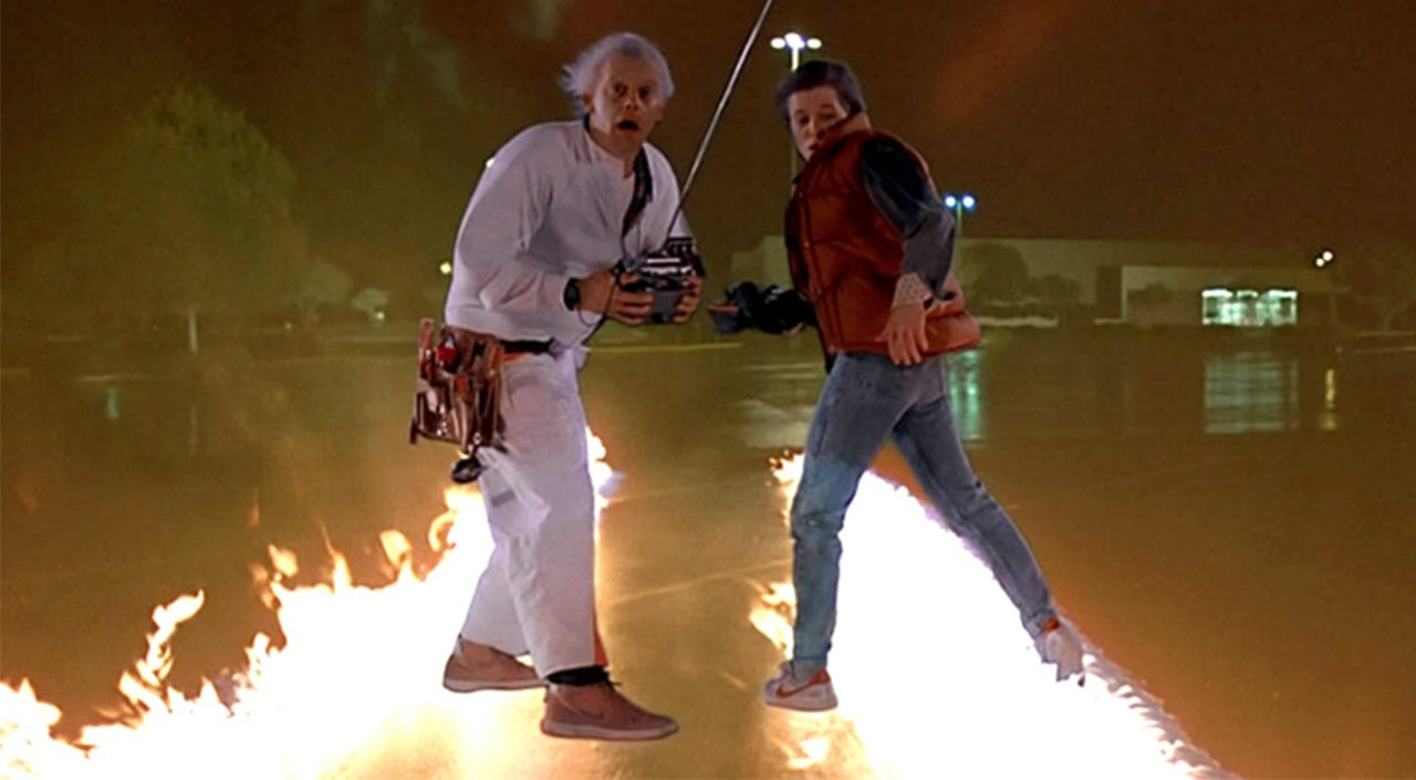 "Nike Vandal High Supreme US 10 Orange Doc Brown /""Back to the Future/"""