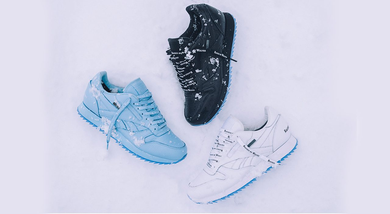 reebok classic leather x raised by wolves