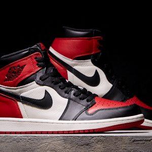 Nike Air Jordan 1 Bred Toe