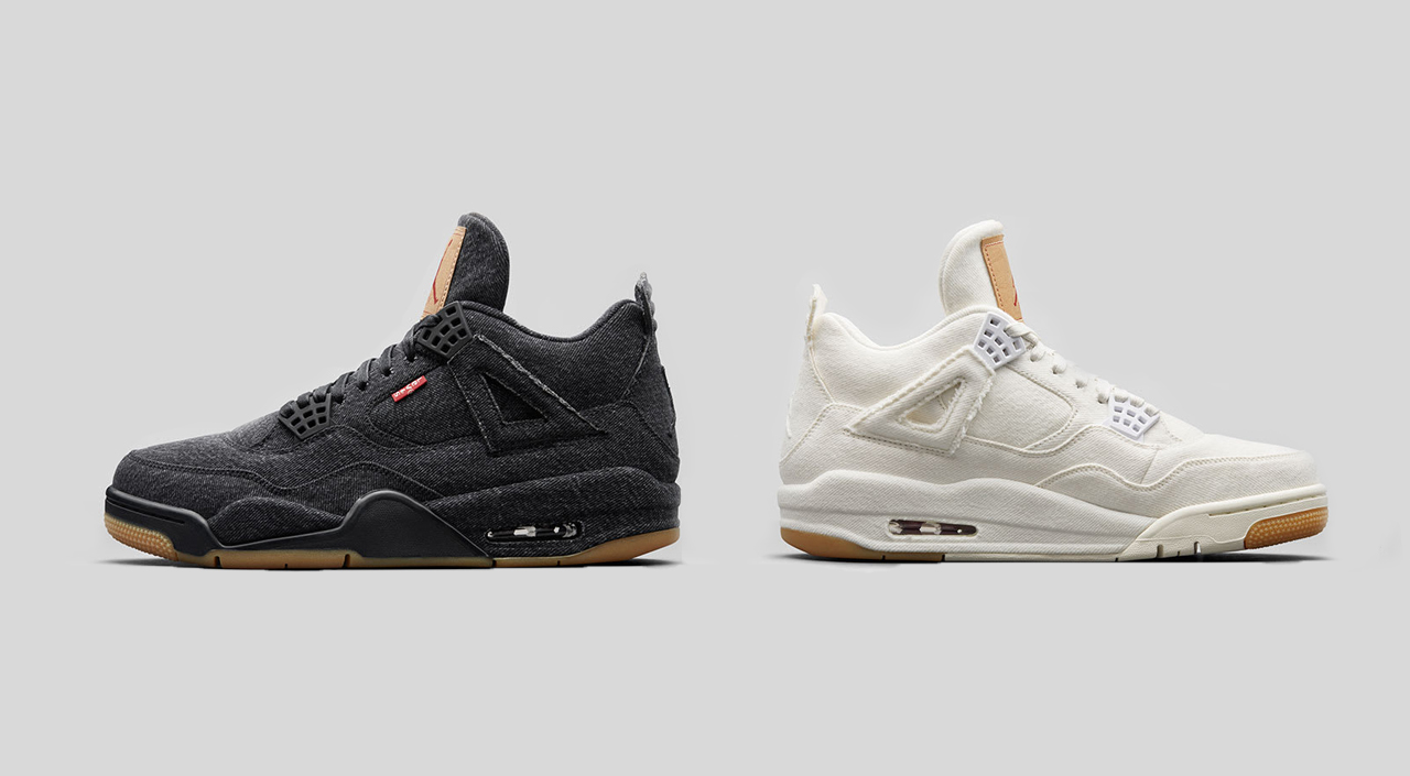 0ec94cf39b2 The Levi s x Air Jordan 4 sneakers will come in two shades of denim this  month