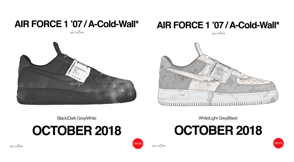 A-COLD-WALL x Nike Air Force 1