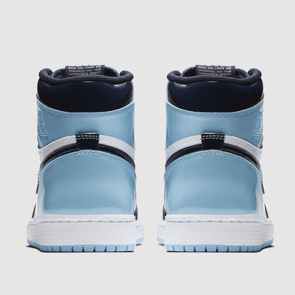Air Jordan 1 Blue Chill patent leather unc