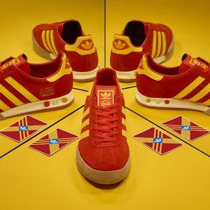 adidas originals archive kegler super red yellow