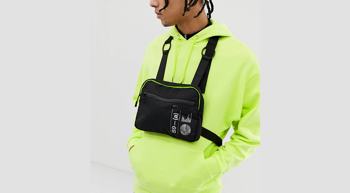 Latest streetwear gear ASOS DESIGN chest harness bag