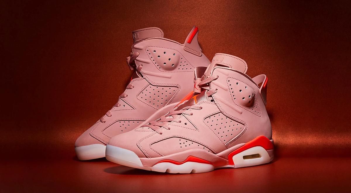 Aleali May x Air Jordan 6 rust pink