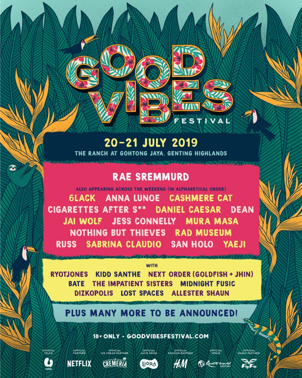 good vibes festival 2019 event poster