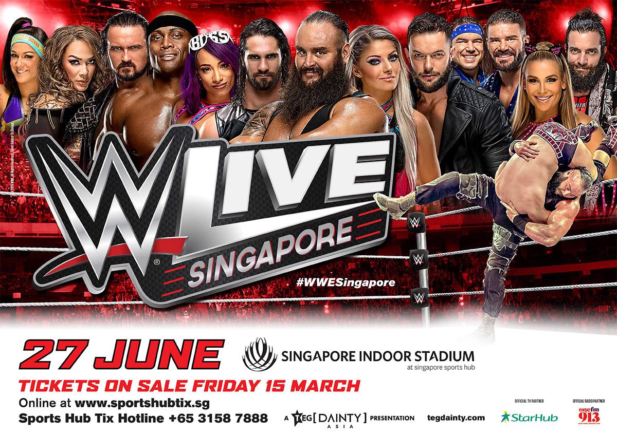 wwe live singapore june 27, 2019