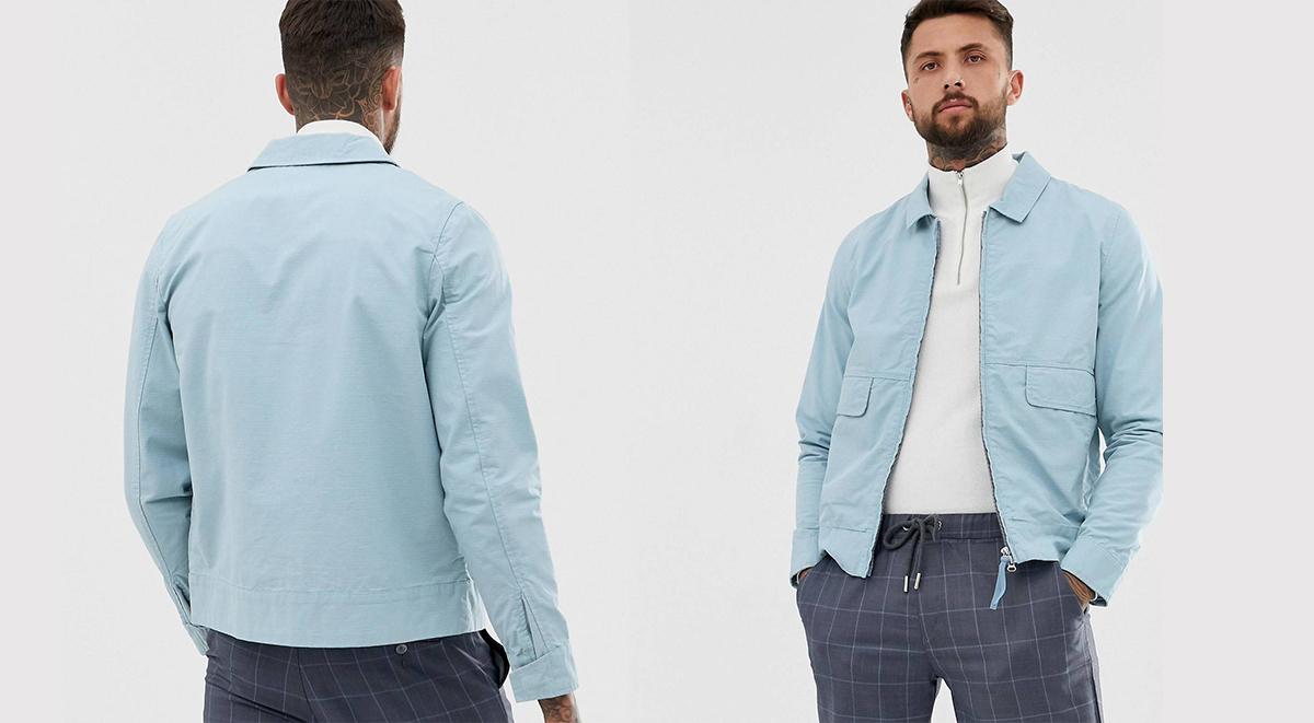 ASOS Labour Day offer blue harrington jacket