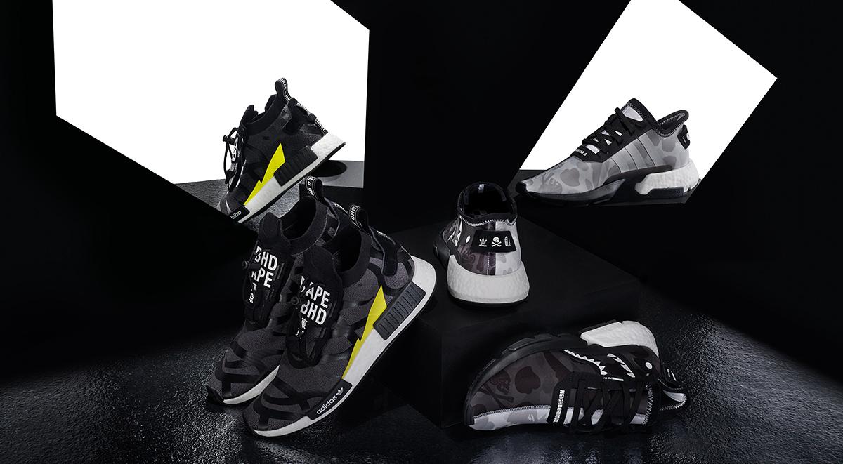 Adidas Originals x Bape x Neighborhood NMD STLT POD S-31