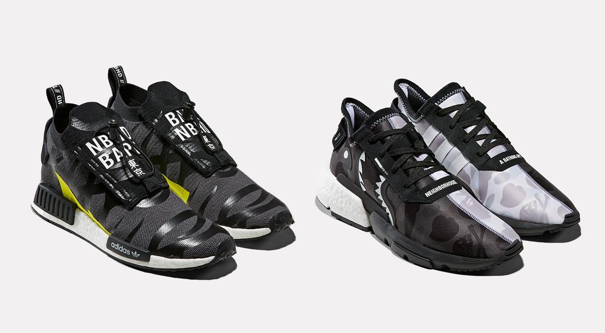Adidas Originals x Bape x Neighborhood POD S-3-1 NMD STLT
