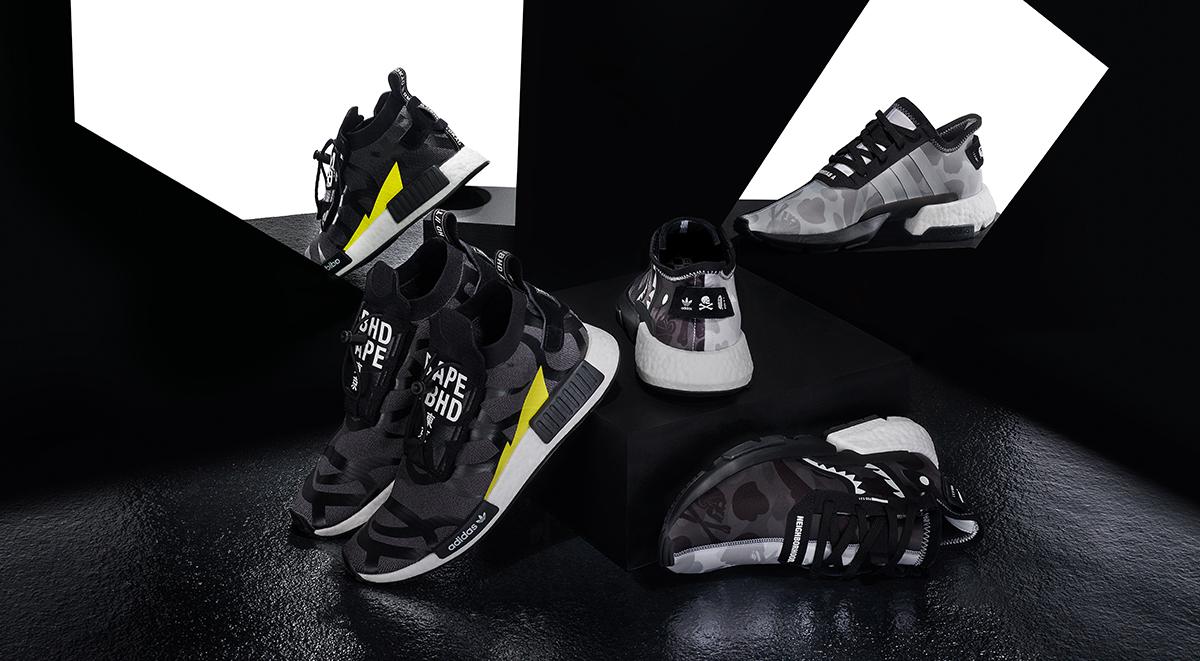 Adidas x Bape x neigborhood april sneaker releases