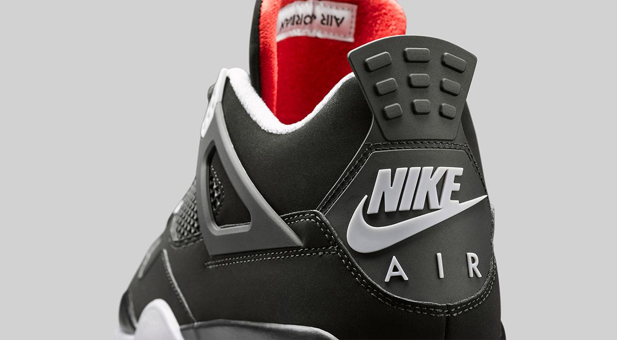Air Jordan 4 Bred Nike Air Heel Branding