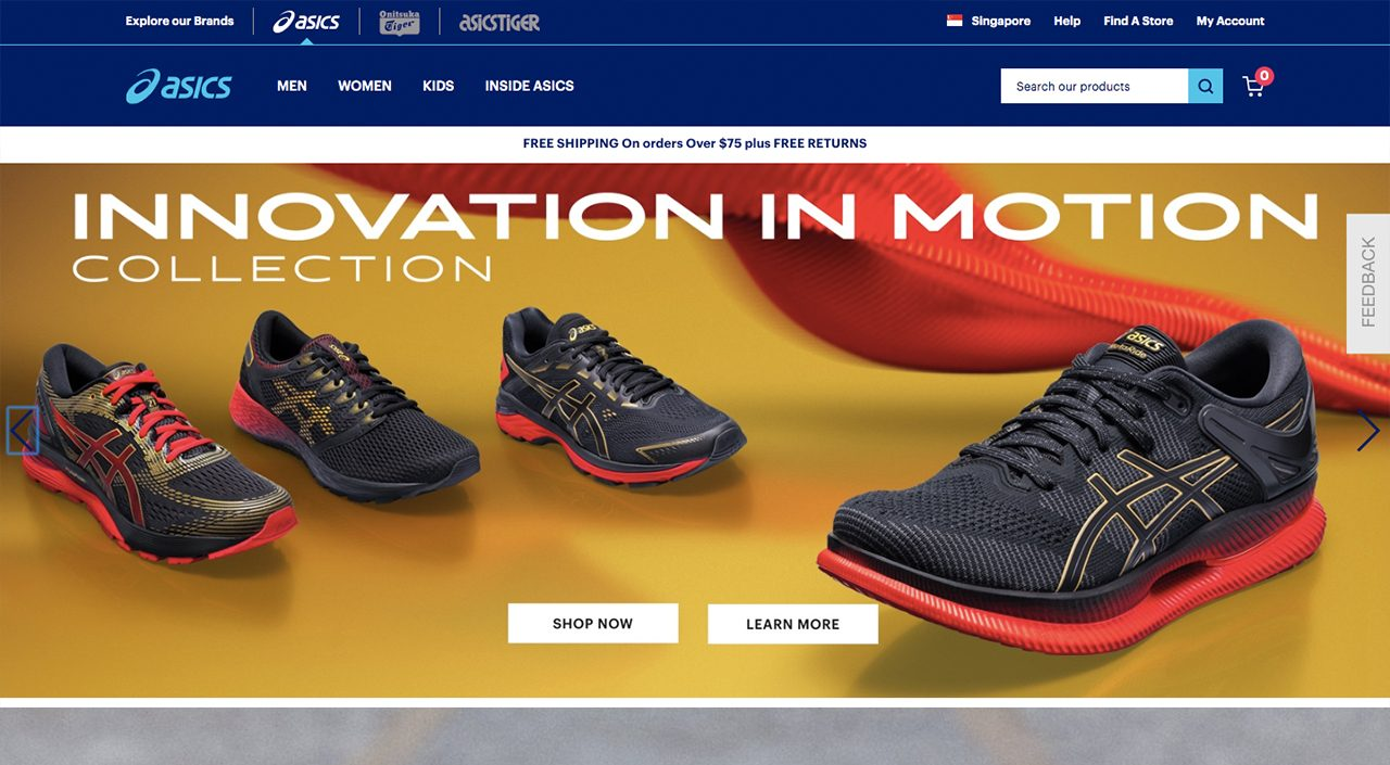 Asics Singapore online store
