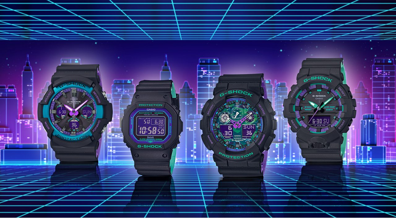 G-Shock Clear Skeleton and black-based 90s series