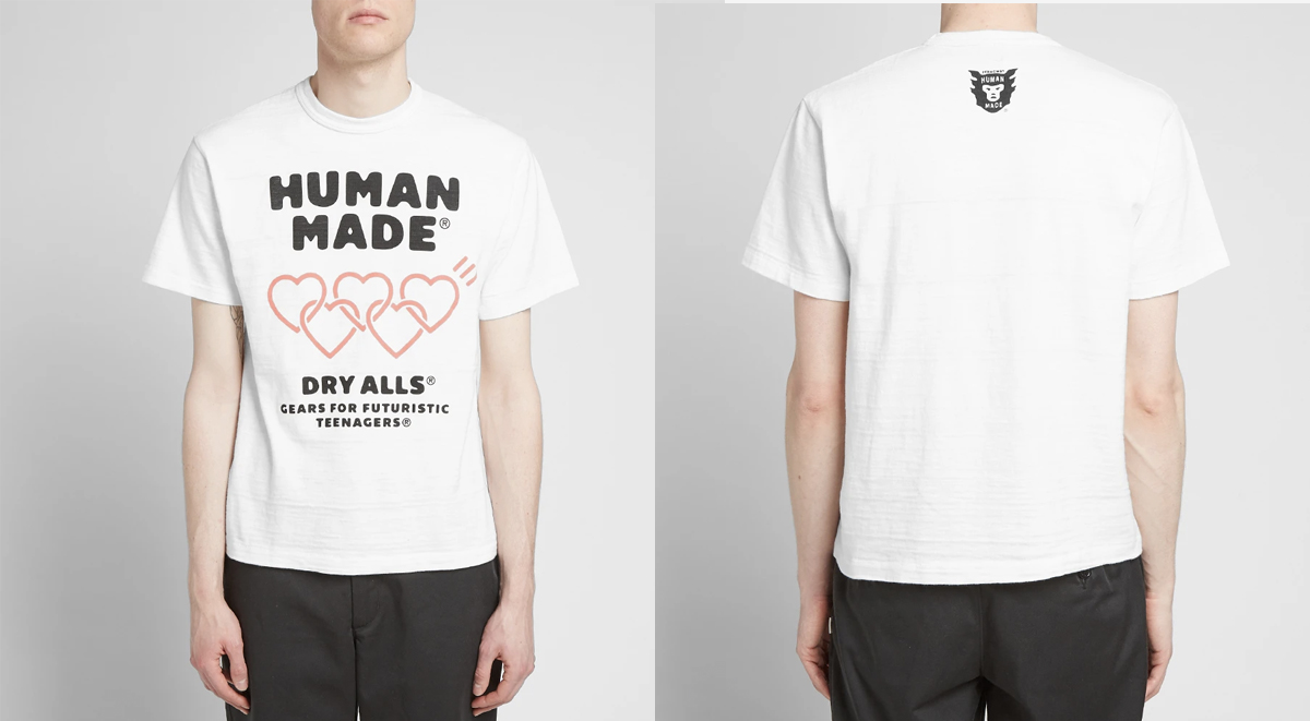 streetwear picks human made dry alls tshirt
