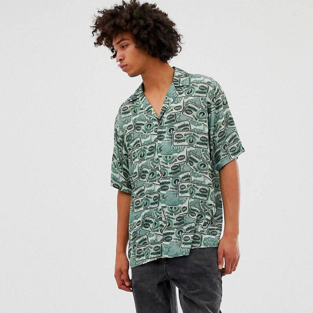 Reclaimed Vintage inspired money print shirt Summer Sale 2019 Singapore