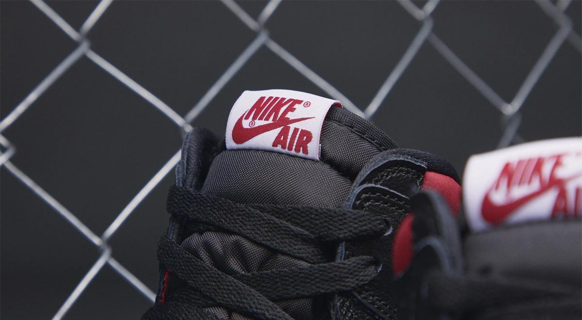 air jordan 1 gym red release tongue label