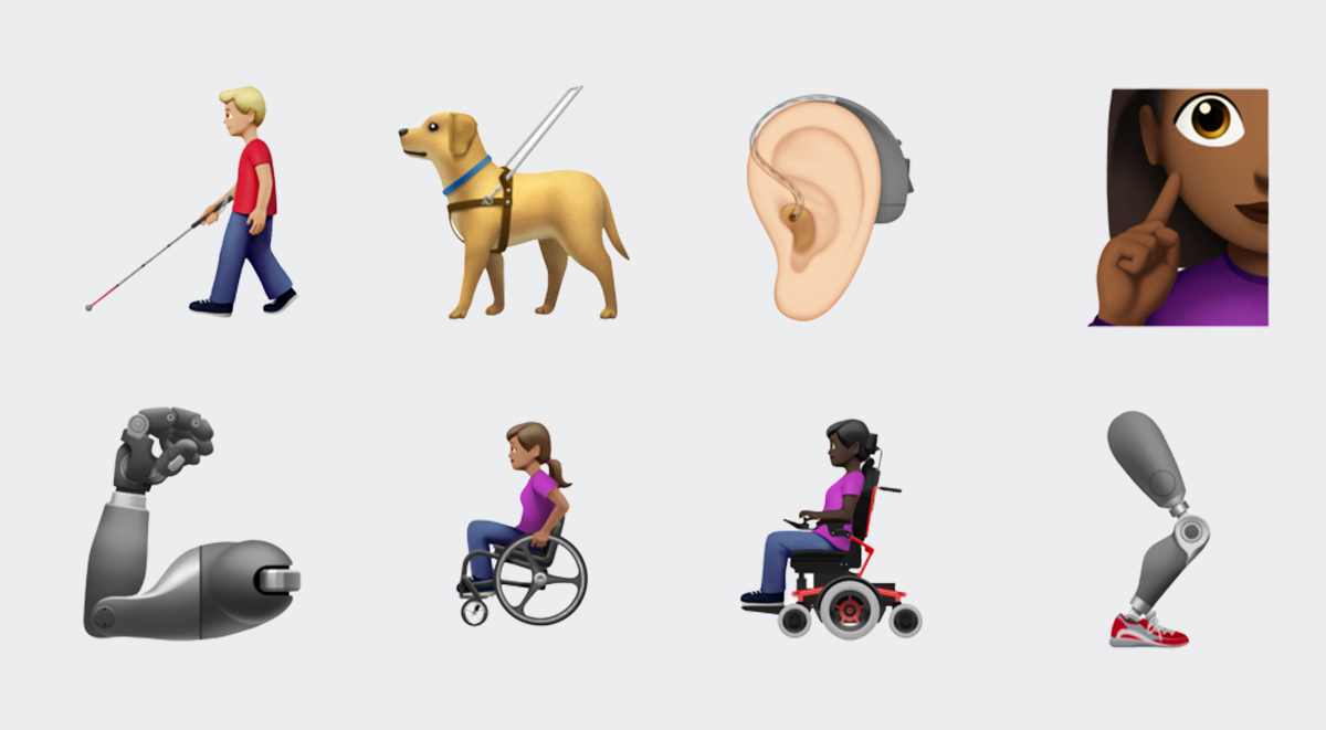 apple emoji disability themed 2019
