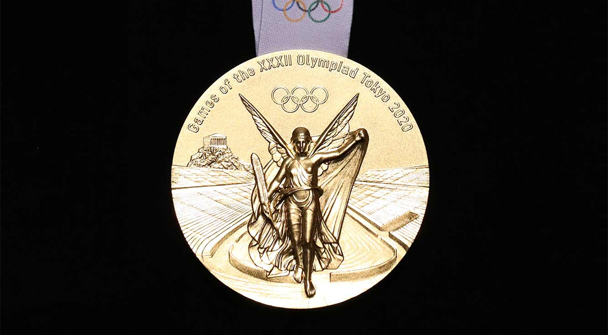 Tokyo 2020 Olympic medal featured front