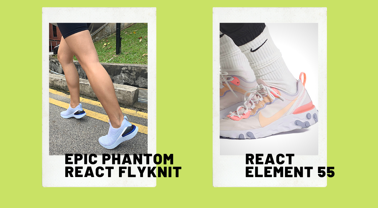 nike react review nike react element 55 and epic phantom react flyknit