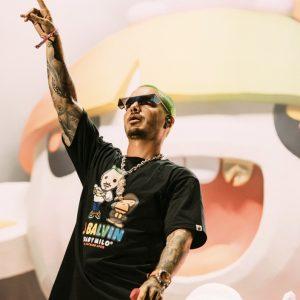 j balvin x bape collaboration t-shirt global launch lollapalooza