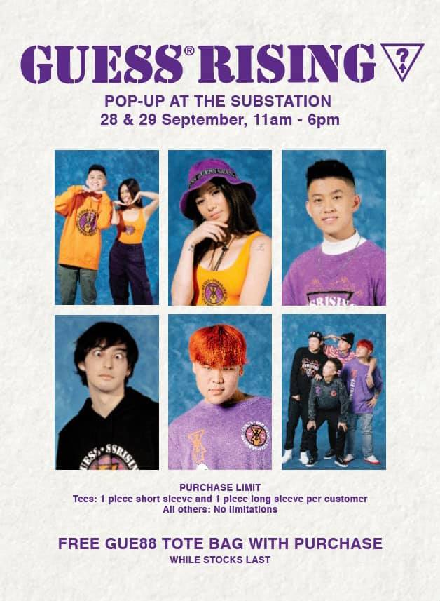 guess x 88rising head in the clouds singapore pop up launch details 2019