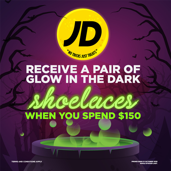 Halloween JD Sports shoelaces