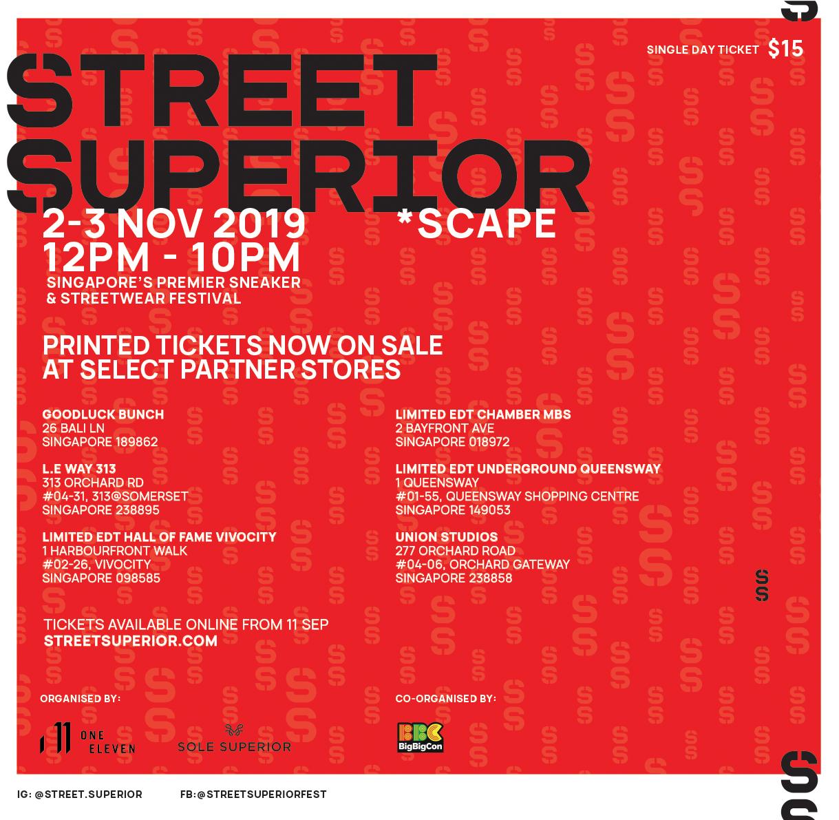 street superior 2019 singapore ticket stockists