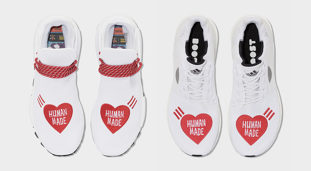 footwear drops Human Made x Adidas Pharrell NMD Hu singapore release details october 2019