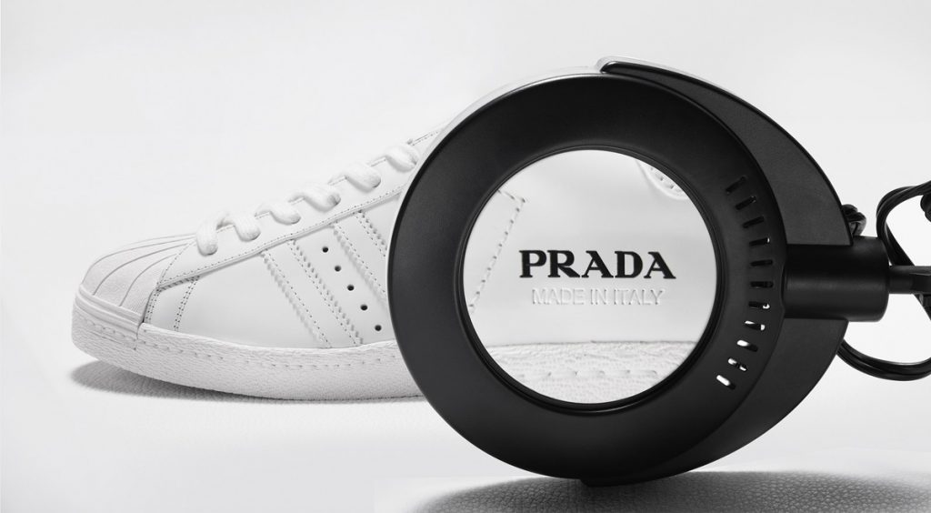 Adidas x Prada Superstar label