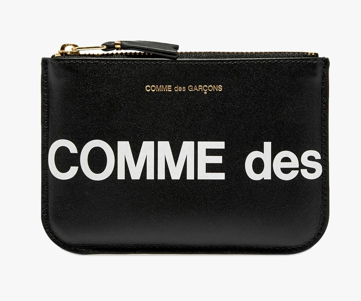 Christmas gift guide 2019 above 100 Comme Des Garcons Huge Logo Wallet