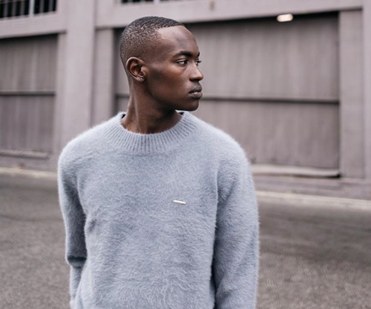 Christmas gift guide 2019 above 300 Stampd angora crewneck sweater