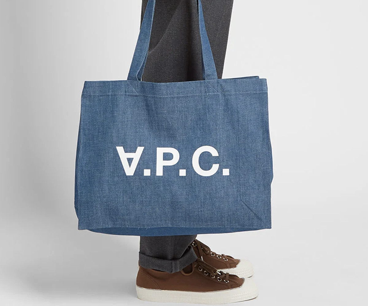 Christmas gift guide 2019 under 100 A.P.C. Daniel Logo Tote Bag