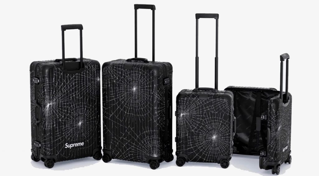 Supreme x rimowa collection spiderweb pattern launch 2019