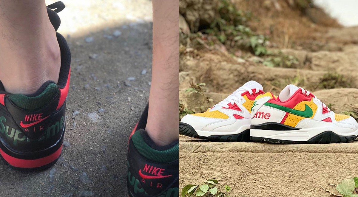 supreme x nike air cross trainer 3 low leaked images closer look